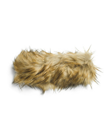 SURELL Faux Fur Convertible Headband Scarf