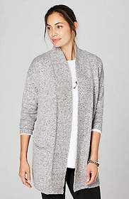 Pure Jill Marled Open-Front Cardi