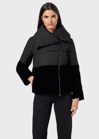 Armani Quilted jacket with velvet details