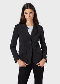 Armani Double-crêpe, single-breasted jacket with p
