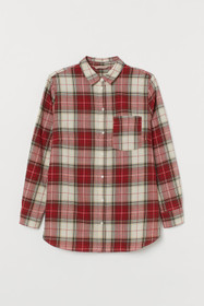 H&M+ Plaid Cotton Shirt