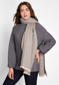 Count on Warmth Plaid Scarf Gray