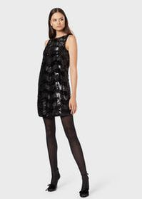 Armani Tube dress with sequins and wave motif