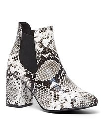 Snake-Print Faux-Leather Bootie - New York & Compa