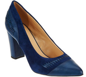 """""""As Is"""" C. Wonder Leather & Suede Pumps with Woven"""