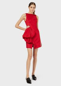 Armani Tube dress with oversized applied ruching