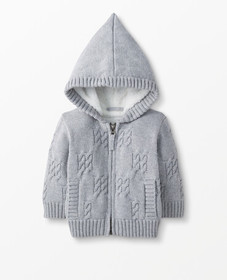 Hanna Andersson Sherpa Lined Sweater Jacket in Hea