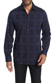 Perry Ellis Plaid Print Slim Fit Shirt