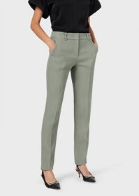 Armani Chino trousers in textured stretch fabric