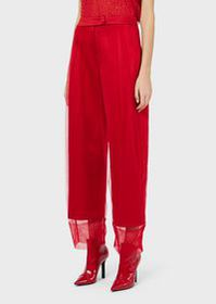 Armani Viscose trousers covered in tulle