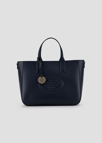 Armani Garnet shopping bag with embossed logo and