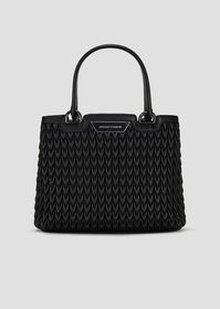 Armani Shopping bag in quilted faux nappa with dro