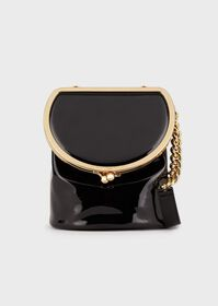 Armani Shoulder bag in faux patent leather