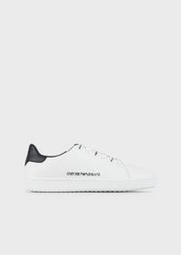 Armani Leather sneakers with logoed laces