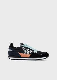 Armani Mesh sneakers with contrasting inserts in s