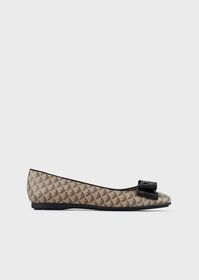 Armani Ballerinas with all-over monogram and bow