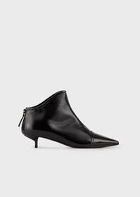 Armani Pointed-toe, high-heeled ankle boots in pat