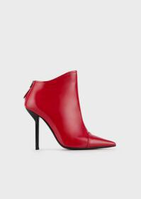 Armani Pointed-toe, high-heeled ankle boots in bru