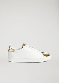 Armani Genuine leather sneakers with mirrored lami