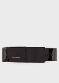Armani High-waisted belt in faux patent leather