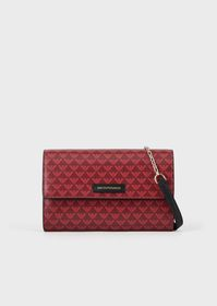Armani Mini shoulder bag with all-over monogram