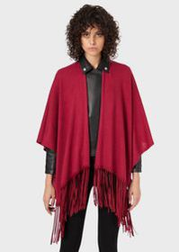 Armani Wool-blend stole with fringes