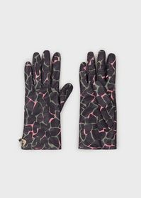 Armani Nappa leather gloves with all-over print