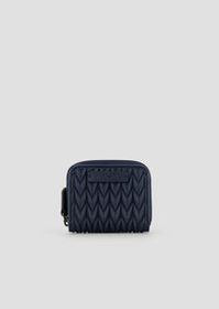 Armani Mini wallet with zipper and quilted drop mo