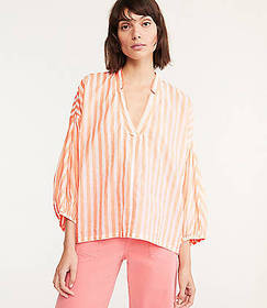 Lou & Grey Striped Poet Blouse