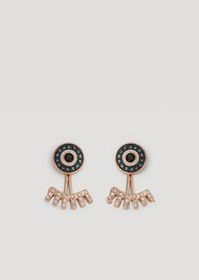 Armani Eyes on the world earrings with rhinestones