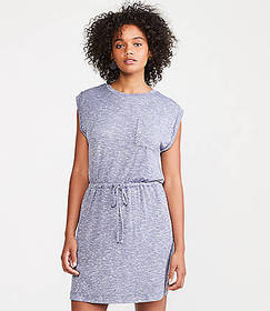 Lou & Grey Brushmarl Pocket Tee Dress