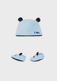 Armani Beanie and booties gift set with ears