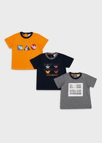 Armani Pack of 3 T-shirts with logo prints