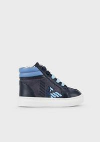 Armani High-top leather sneakers with matching sol