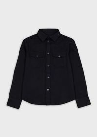 Armani Shirt with pockets and embroidered logo
