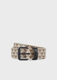 Armani Belt with all-over monogram