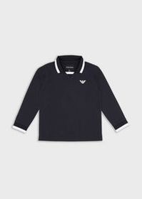 Armani Long-sleeves polo shirt with eagle patch