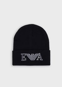 Armani Wool beanie with embroidered logo