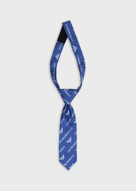 Armani Silk tie with all-over logo