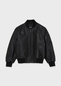 Armani Bomber jacket in vegetable-tanned lambskin