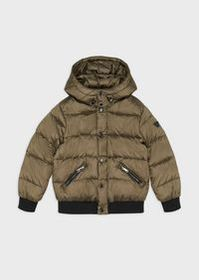 Armani Quilted down jacket in glossy nylon