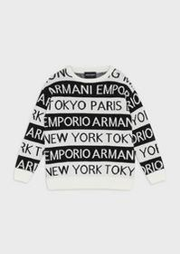 Armani Sweater with jacquard motif of city names