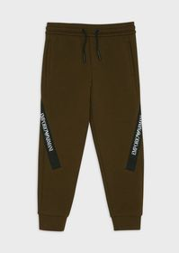 Armani Piqué jogging trousers with logo band