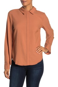 CURRENT AIR Back Button Blouse
