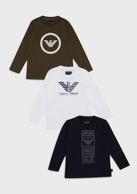 Armani Pack of 3 logoed sweaters
