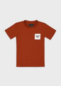 Armani Jersey T-shirt with logo patch