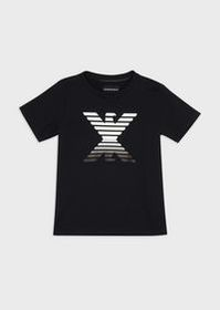 Armani Jersey T-shirt with mirror-effect eagle