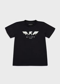 Armani Jersey T-shirt with logoed city print