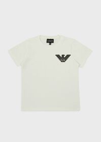 Armani Jersey T-shirt with eagle logo