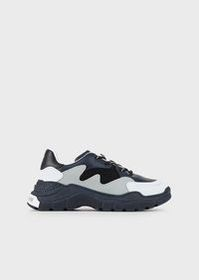 Armani Thick-soled, nappa leather sneakers